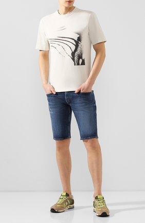 Мужские джинсовые шорты 7 FOR ALL MANKIND темно-синего цвета, арт. JSZ2A500HM | Фото 2