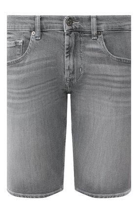 Мужские джинсовые шорты 7 FOR ALL MANKIND серого цвета, арт. JSZ2B070HG | Фото 1