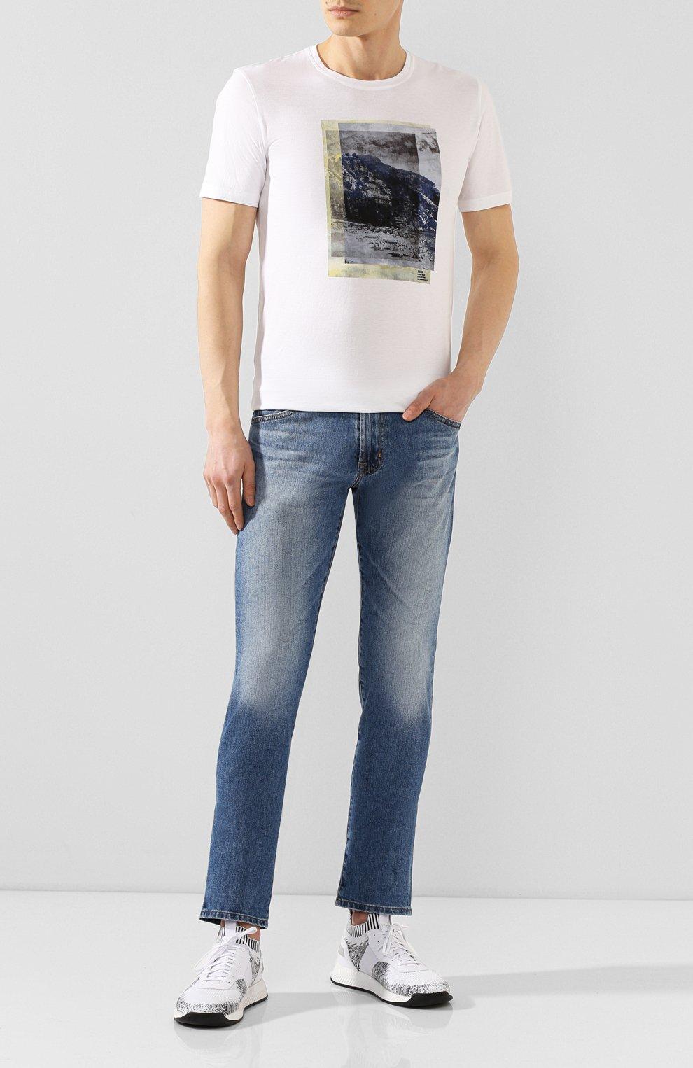 Мужские джинсы AG синего цвета, арт. 1783LED/RGSR   Фото 2