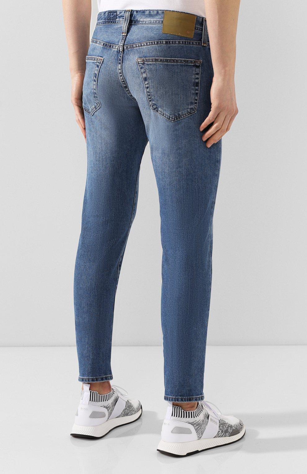 Мужские джинсы AG синего цвета, арт. 1783LED/RGSR   Фото 4