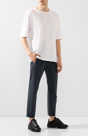 Мужской брюки KAZUYUKI KUMAGAI зеленого цвета, арт. AP01-213 | Фото 2