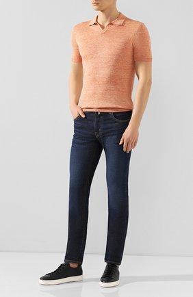 Мужские джинсы JACOB COHEN темно-синего цвета, арт. J688 LIMITED C0MF 01859-W2/53   Фото 2