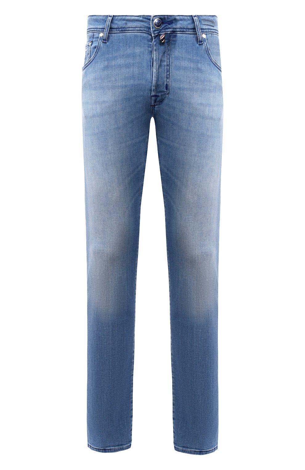 Мужские джинсы JACOB COHEN голубого цвета, арт. J688 C0MF 01855-W3/53 | Фото 1