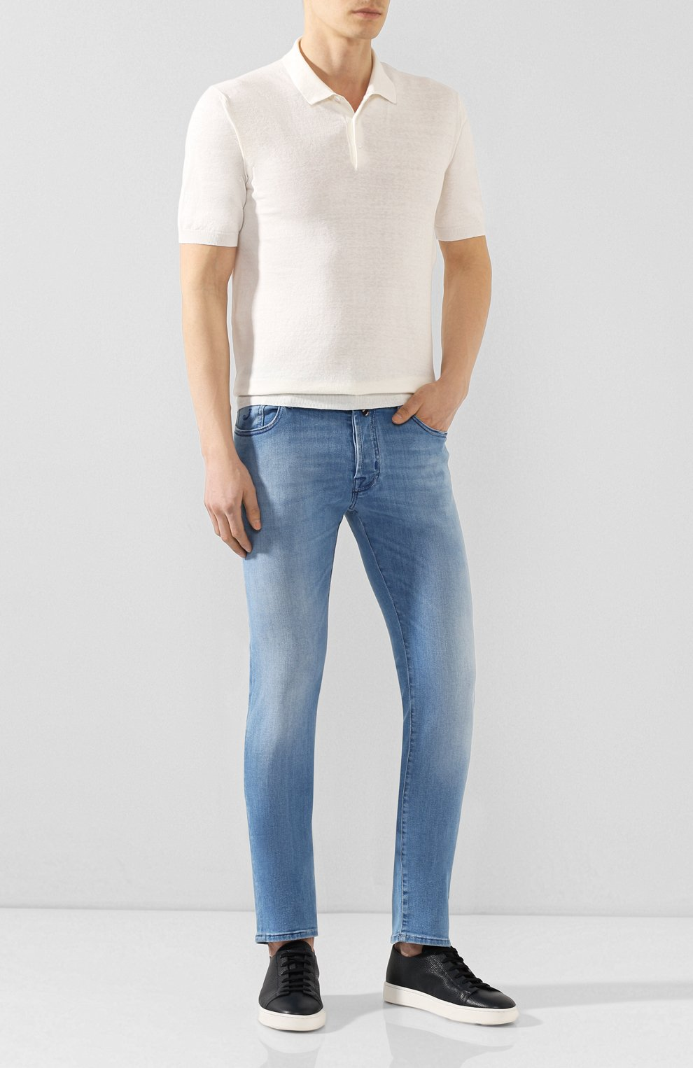 Мужские джинсы JACOB COHEN голубого цвета, арт. J688 C0MF 01855-W3/53 | Фото 2