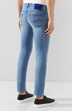 Мужские джинсы JACOB COHEN голубого цвета, арт. J688 C0MF 01855-W3/53 | Фото 4