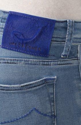 Мужские джинсы JACOB COHEN голубого цвета, арт. J688 C0MF 01855-W3/53 | Фото 5