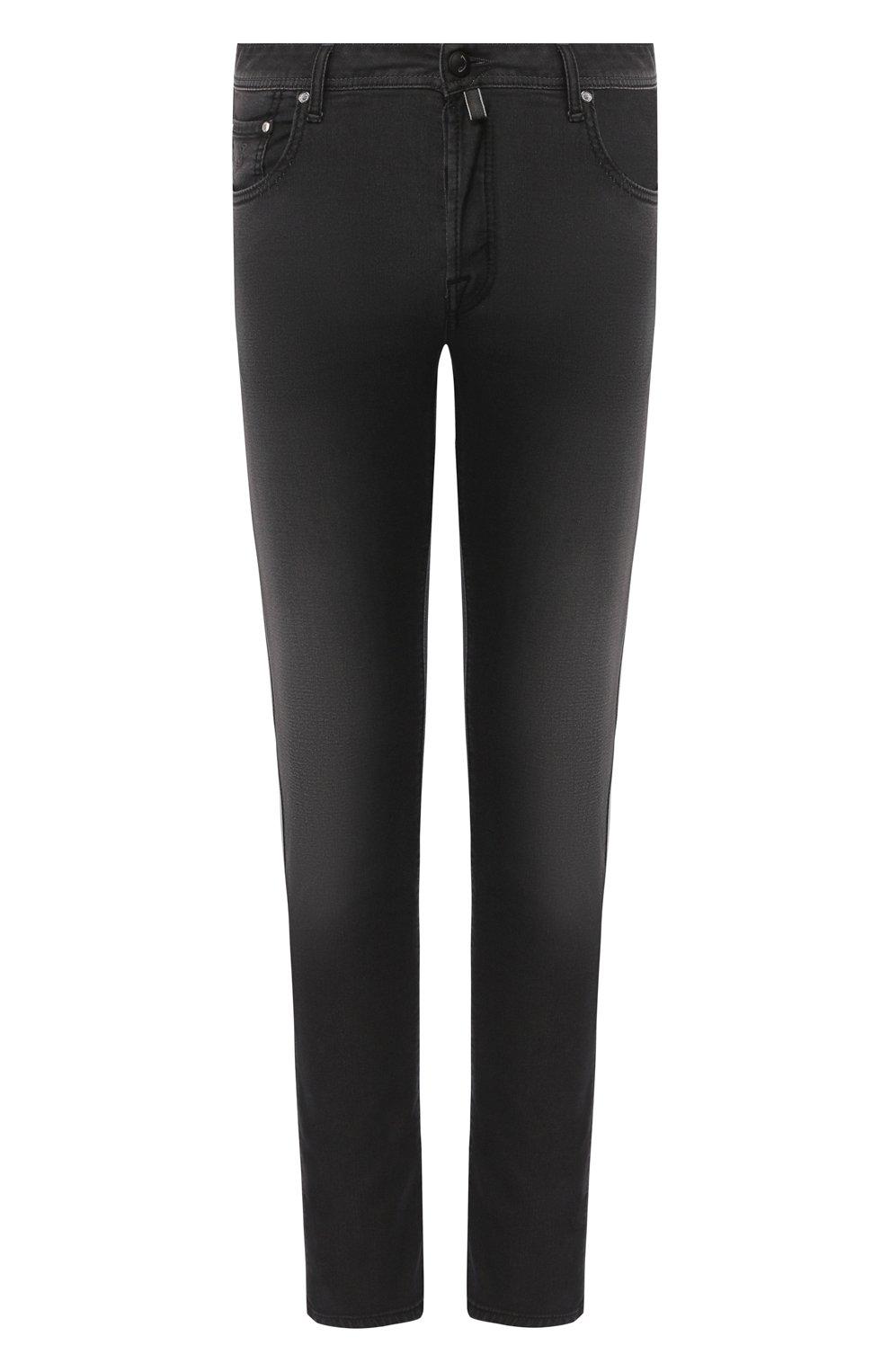 Мужские джинсы JACOB COHEN черного цвета, арт. J688 C0MF 01841-W1/53   Фото 1