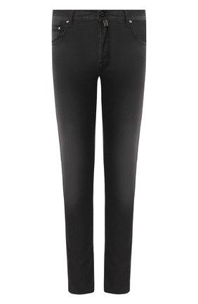 Мужские джинсы JACOB COHEN черного цвета, арт. J688 C0MF 01841-W1/53 | Фото 1