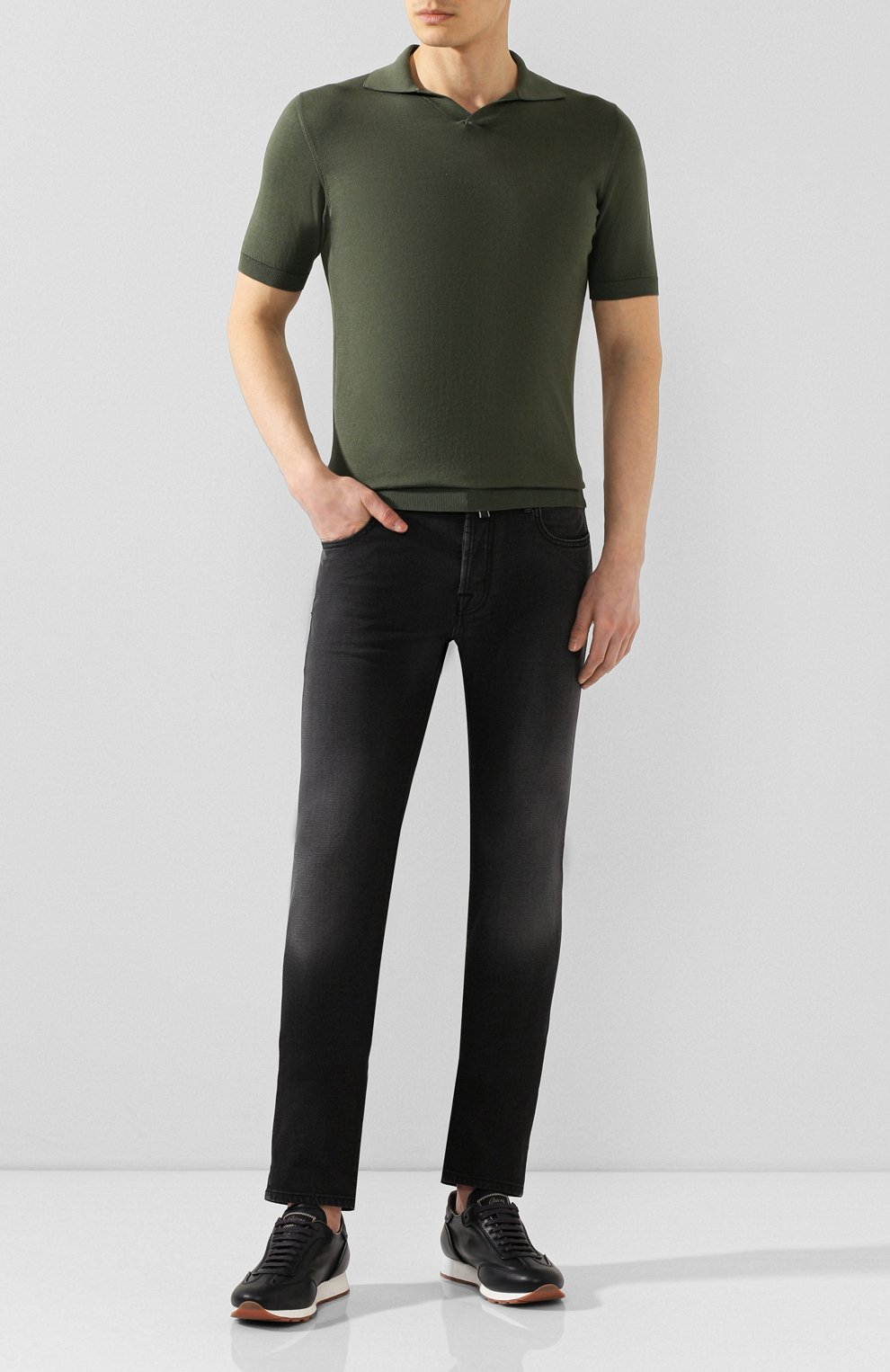 Мужские джинсы JACOB COHEN черного цвета, арт. J688 C0MF 01841-W1/53   Фото 2