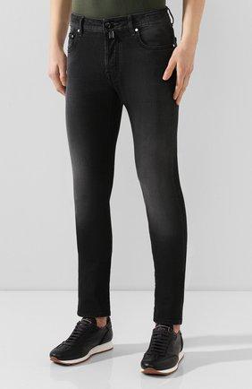 Мужские джинсы JACOB COHEN черного цвета, арт. J688 C0MF 01841-W1/53   Фото 3