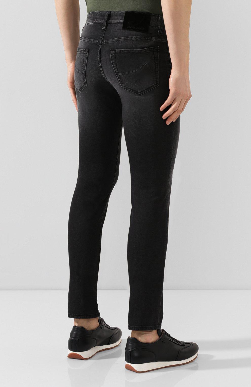 Мужские джинсы JACOB COHEN черного цвета, арт. J688 C0MF 01841-W1/53   Фото 4