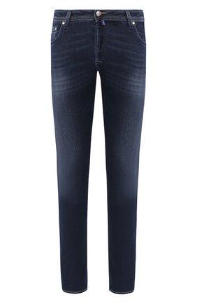 Мужские джинсы JACOB COHEN синего цвета, арт. J688 C0MF 00973-W3/53 | Фото 1