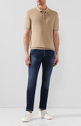 Мужские джинсы JACOB COHEN синего цвета, арт. J688 C0MF 00973-W3/53 | Фото 2