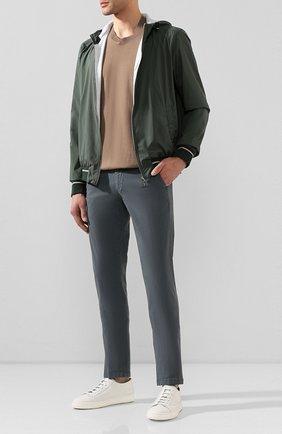 Мужской хлопковые брюки CORNELIANI зеленого цвета, арт. 854ER1-0120168/00 | Фото 2