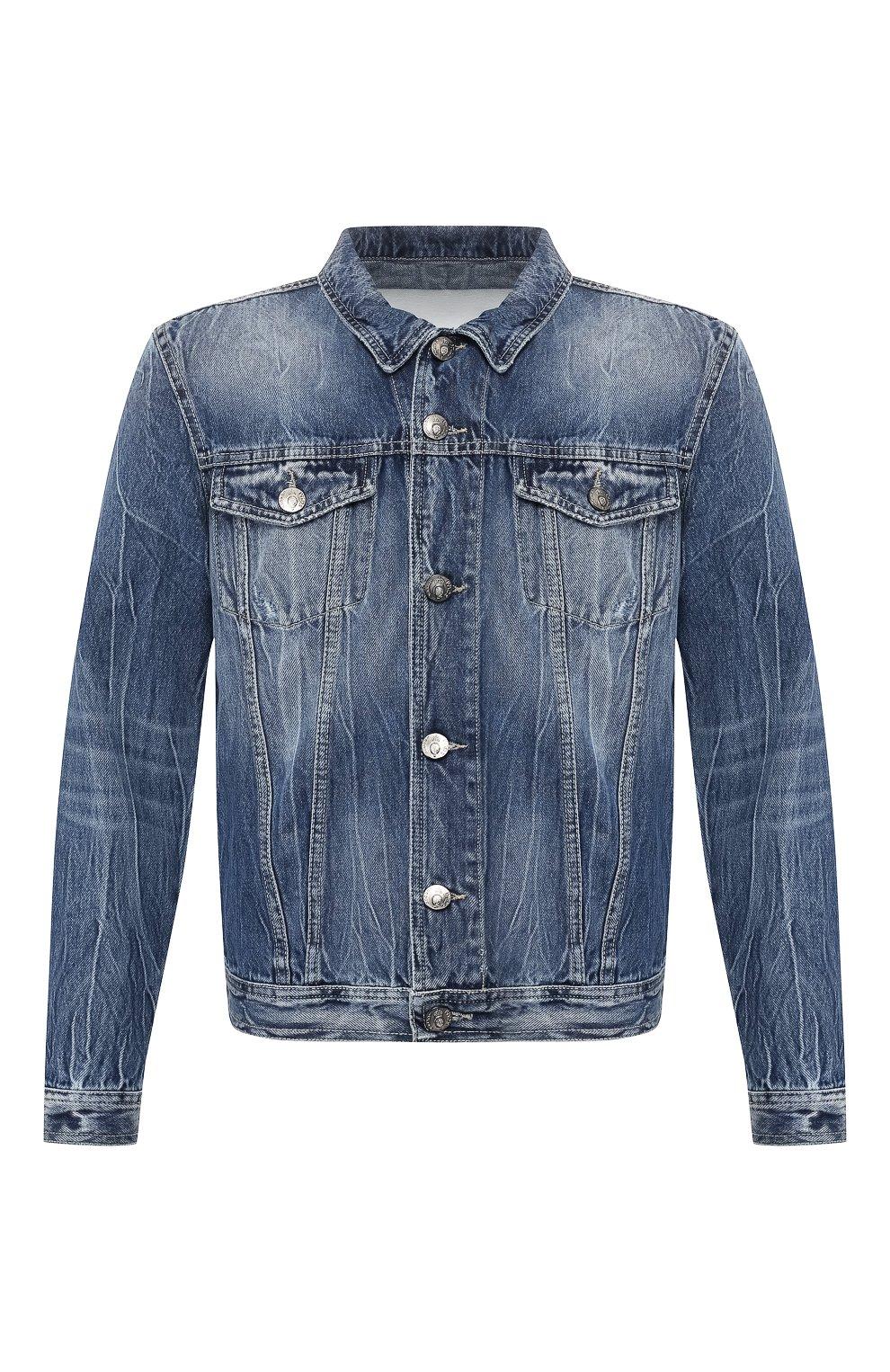 Мужская джинсовая куртка PREMIUM MOOD DENIM SUPERIOR синего цвета, арт. S20 03771T375/DUTA   Фото 1