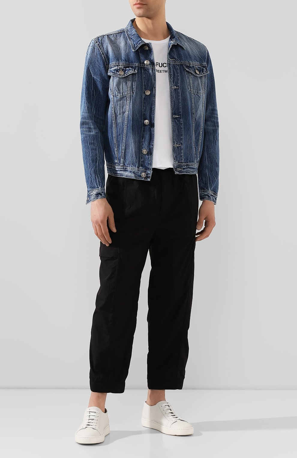 Мужская джинсовая куртка PREMIUM MOOD DENIM SUPERIOR синего цвета, арт. S20 03771T375/DUTA   Фото 2