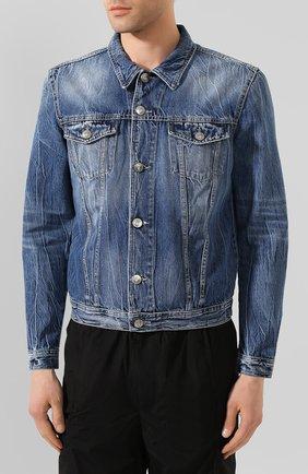 Мужская джинсовая куртка PREMIUM MOOD DENIM SUPERIOR синего цвета, арт. S20 03771T375/DUTA   Фото 3