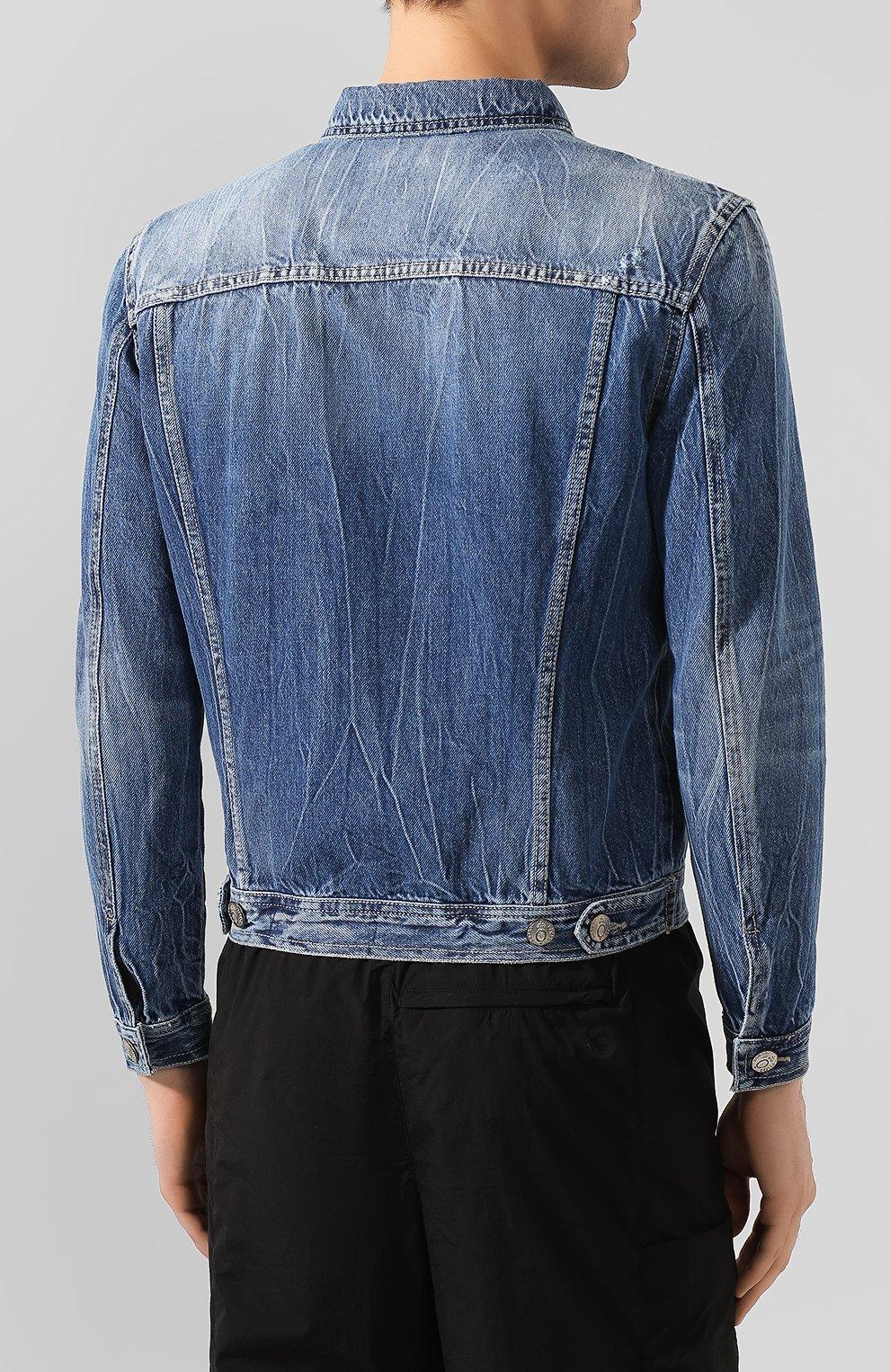 Мужская джинсовая куртка PREMIUM MOOD DENIM SUPERIOR синего цвета, арт. S20 03771T375/DUTA   Фото 4