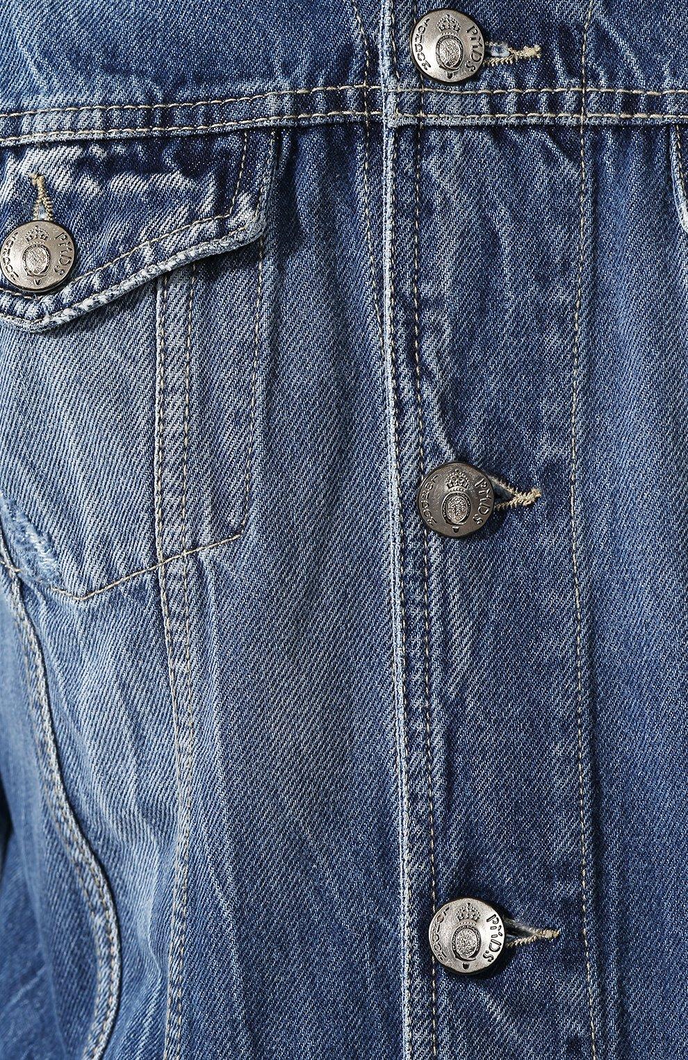 Мужская джинсовая куртка PREMIUM MOOD DENIM SUPERIOR синего цвета, арт. S20 03771T375/DUTA   Фото 5