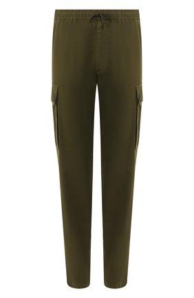 Мужской хлопковые брюки-карго DRIES VAN NOTEN хаки цвета, арт. 201-20963-9292 | Фото 1
