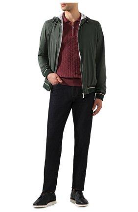 Мужское хлопковое поло FEDELI бордового цвета, арт. 3UED6028 | Фото 2