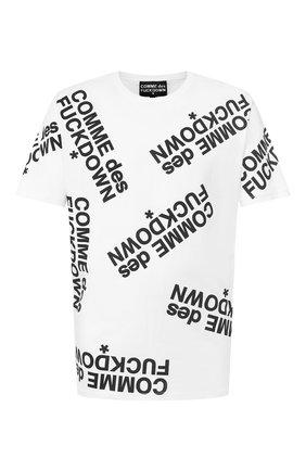 Мужская хлопковая футболка COMME DES FUCKDOWN белого цвета, арт. CDFU714 | Фото 1