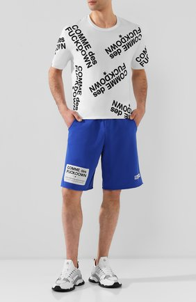 Мужская хлопковая футболка COMME DES FUCKDOWN белого цвета, арт. CDFU714 | Фото 2