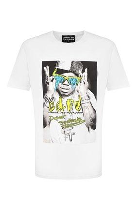 Мужская хлопковая футболка COMME DES FUCKDOWN белого цвета, арт. CDFU729 | Фото 1