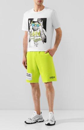 Мужская хлопковая футболка COMME DES FUCKDOWN белого цвета, арт. CDFU729 | Фото 2