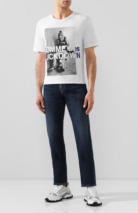 Мужская хлопковая футболка COMME DES FUCKDOWN белого цвета, арт. CDFU736 | Фото 2