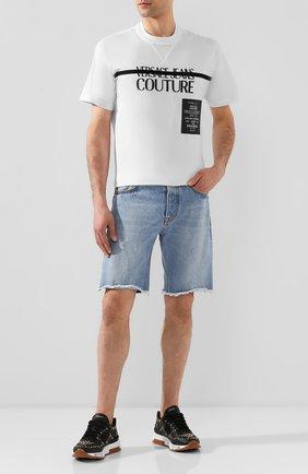 Мужские джинсовые шорты VERSACE JEANS COUTURE синего цвета, арт. A4GVB17I-VUM507/A0K5Z | Фото 2