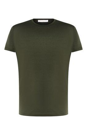 Мужская хлопковая футболка DANIELE FIESOLI зеленого цвета, арт. DF 0612 | Фото 1