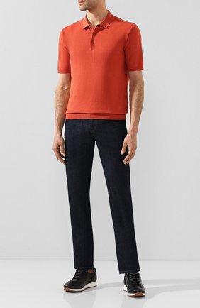 Мужское поло из смеси льна и хлопка ALTEA красного цвета, арт. 2051037 | Фото 2