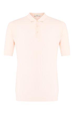 Мужское поло из смеси льна и хлопка ALTEA светло-розового цвета, арт. 2051037   Фото 1