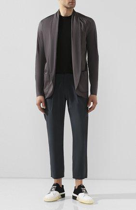 Мужской хлопковый пиджак KAZUYUKI KUMAGAI темно-серого цвета, арт. AJ01-227 | Фото 2