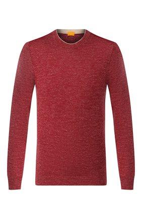 Мужской джемпер из смеси шелка и льна SVEVO бордового цвета, арт. 6400/SE20/MP64   Фото 1