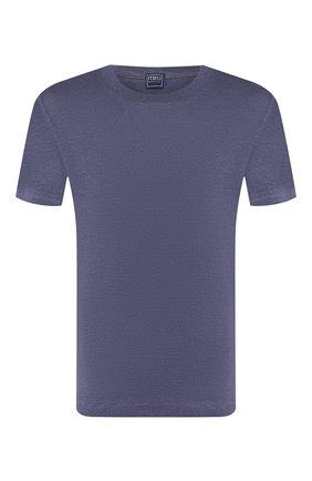 Мужская льняная футболка FEDELI синего цвета, арт. 3UED0151 | Фото 1