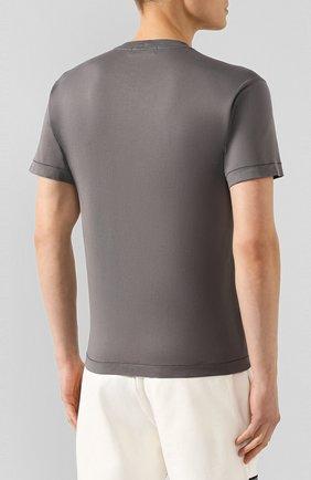 Мужская хлопковая футболка STONE ISLAND темно-серого цвета, арт. 721520113 | Фото 4