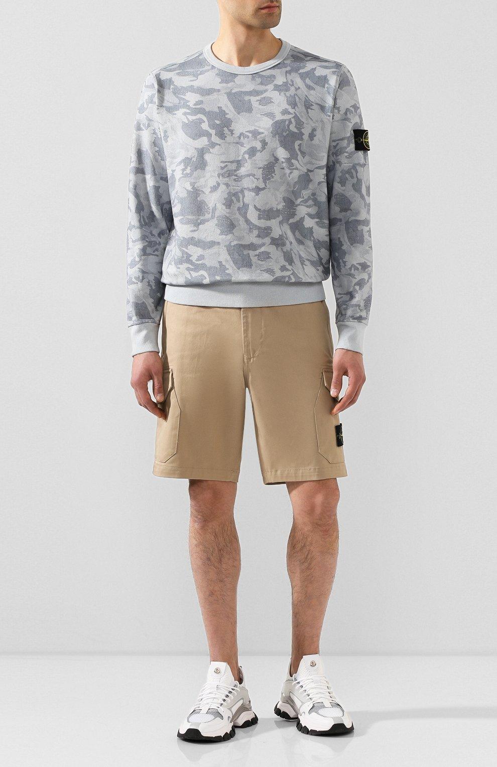 Мужские хлопковые шорты STONE ISLAND бежевого цвета, арт. 7215L0405 | Фото 2