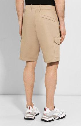 Мужские хлопковые шорты STONE ISLAND бежевого цвета, арт. 7215L0405 | Фото 4