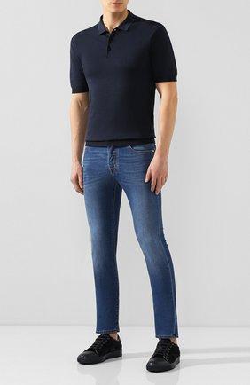 Мужские джинсы JACOB COHEN синего цвета, арт. J688 C0MF 01843-W2/53 | Фото 2