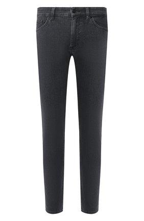 Мужские джинсы BOSS серого цвета, арт. 50426422   Фото 1