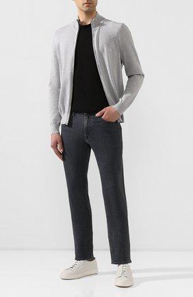 Мужские джинсы BOSS серого цвета, арт. 50426422   Фото 2