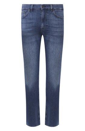 Мужские джинсы BOSS синего цвета, арт. 50426424   Фото 1