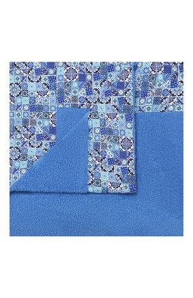 Мужские хлопковое полотенце KITON голубого цвета, арт. UTLM02X08S16 | Фото 1