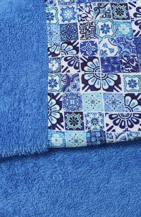 Мужские хлопковое полотенце KITON голубого цвета, арт. UTLM02X08S16 | Фото 2