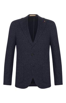 Мужской хлопковый пиджак SARTORIA LATORRE темно-синего цвета, арт. JF74 JE2072 | Фото 1