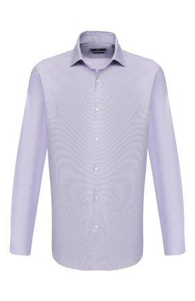 Мужская хлопковая сорочка BOSS сиреневого цвета, арт. 50427452 | Фото 1