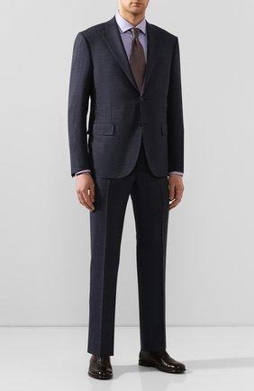 Мужская хлопковая сорочка BOSS сиреневого цвета, арт. 50427452 | Фото 2