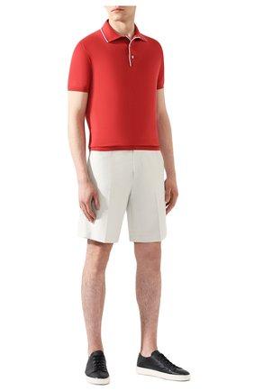 Мужское хлопковое поло LORO PIANA красного цвета, арт. FAL1504 | Фото 2